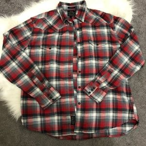 Lucky Brand black label flannel. Size large